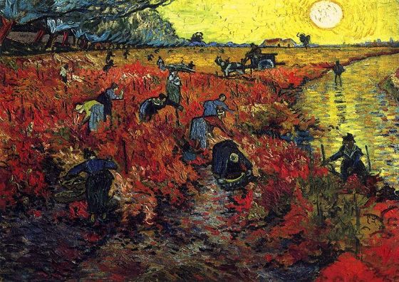 Van Gogh, Vincent: Red Vineyards at Arles. Fine Art Print/Poster. Sizes: A4/A3/A2/A1 (001531)